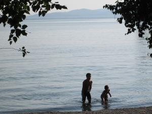 Flathead lake swimming
