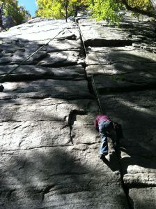 Elias at the Gunks